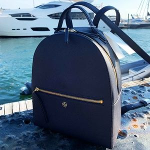 Tory Burch Navy Blue Emerson Backpack